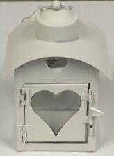 Mini Vintage Style Love Heart Cut Out Metal Lantern Tea Light Candle Holder Shab