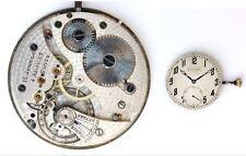 MOVADO original vintage watch movement + dial + hands + crown, working  (4785)
