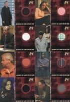 24 Twenty Four Season 4 Expansion Costume Card Set 12 Cards
