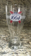 Beautiful Kronenbourg Embossed 1664 Pint Glass Beer Euro Pale Lager France NEW