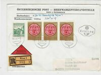 Austria 1965 Registered Wien Cancel FDC Multiple 600 Years Stamps Cover Ref27510