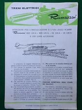 (R8) RIVAROSSI istruzioni installazione uso scambi + folder CATALOGO treno