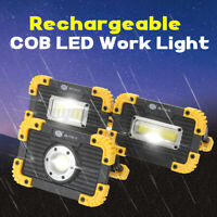 Rechargeable COB LED Floodlight Spot Work Lamp Light Outdoor Camping USB Battery