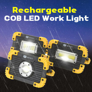 Rechargeable COB LED Floodlight Spot Work Lamp Light Outdoor Camping USB