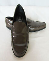 Tod's Gommini Brown Patent Italian Driving Moccasins Loafers EU 39.5 US 9.5