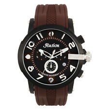 Mulco MW3-12239-035 Black Dial Brown Silicone Band Unisex Quartz Watch