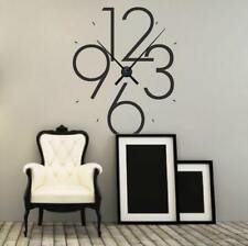 MODERN NUMBER CLOCK Home Wall Art Decals Quote Decor Words Design