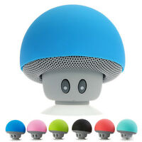 Wireless Bluetooth Mini Speaker Mushroom Waterproof Silicon Suction Music Player