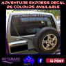 30cm ADVENTURE EXPRESS 4wd 4x4 Ute wagon SUV motorhome boat marine decal sticker