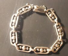 Ladies Vintage Taxco Mexico Links Bracelet sterling 925 7inch 17 grams