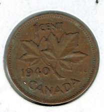 1940 Canadian Circulated George VI One Cent coin!