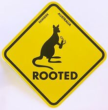 Rude Funny Pot Bong Nimbin Australia ROOTED Sticker Car Decal Stickers