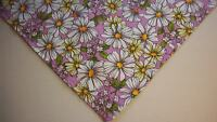 Dog Bandana/Scarf Tie On/Slide On Purple Lilacs Custom Made by Linda XS S M L