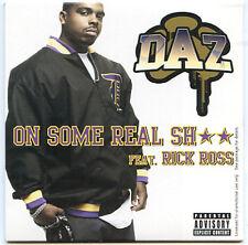 DAZ DILLINGER Rick Ross On Some Real Sh** promo 2006 CD A CAPPELLA instrumental