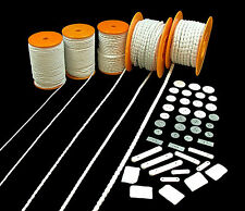Curtain Blind Lining Fabric Lead Hem Tape Cord Rope Stick Penny Weights Sundries
