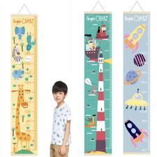 Wooden Cartoon Kids Growth Height Chart Ruler Children Room Decor Wall Hanging