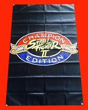 LARGE Street Fighter Arcade Video Game Banner Flag Poster