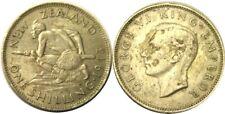 elf New Zealand 1 Shilling 1943 Silver World War II