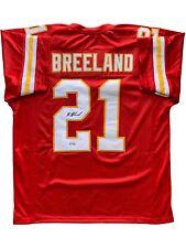 Bashaud Breeland autographed signed jersey NFL Kansas City Chiefs PSA COA
