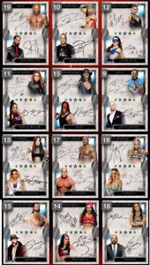 Topps WWE Slam five star Full rare dual sig set award ready