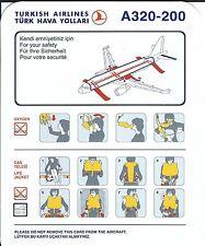 Safety Card - Turkish - A320 200 - c2006 (S1547)