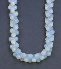 "20"" large opal moonstone bead necklace"