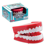 CHATTERING TEETH wind up yakity yak dentures retro classic Novelty Gag Gift toy