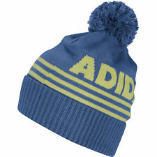 adidas Golf Mens Font Pom Beanie Thermal Warm Winter Hat (All Colours)