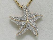Brillant Anhänger Seestern 585 Gelbgold 14Kt Gold Starfish 65 Brillanten