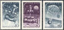 "Russia 1970 Space/""Luna 16""/Parachute/Moon Landing/Rockets 3v set (n11806)"