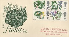 BRITISH FLORA 1967 PHOSPHOR FIRST DAY COVER FDC - BROMLEY AND BECKENHAM POSTMARK