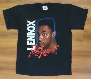 (LOT 3) LENNOX LEWIS  Original 1990's VINTAGE BOXING  L & XL T-SHIRTS Light Wear