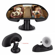 1X Wide Angle Baby Child Car Safety Back Seat Rear View Mirror Adjustable Black