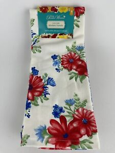 """The Pioneer Woman Classic Charm Floral Kitchen Towels 4 Piece Set 16"""" X 28"""" NEW"""