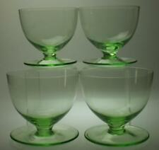 Set of 4 Green Translucent Glass Sundae, Parfait or Dessert Dishes KC257