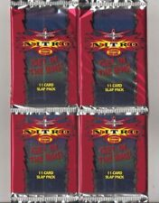 WCW NITRO WRESTLING  4 x GET IN THE RING! 11 CARD SLAP PACKS BRAND NEW