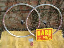 PAIR of NEW WHEELS SHIMANO CASSETTE HUB . MACH-ONE + TIAGRA.  700c .COLLECT ONLY