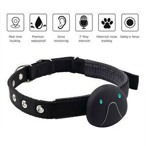 Anti-Lost Pet GPS Tracker Waterproof Dog Cat Locator Collar Fence Phone Tracking
