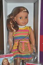 American Girl Lea Clark Doll New in Box PIERCED EARS messenger bag compass book