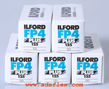5x ROLL-FILM 120 NOIR & BLANC ILFORD FP4+ 125 !!! ILFORD ROLL-FILM 120