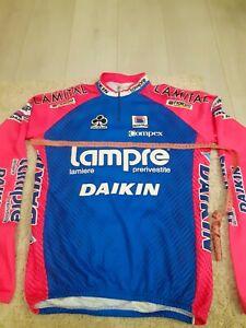 Long shirt vintage Colnago Sportfull Lampre–Daikin cycling  jersey Size L-XL