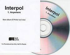INTERPOL Anywhere 2014 UK 1-trk promo test CD El Pintor