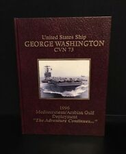 USN USS George Washington CVN 73 1996 Mediterranean Gulf Deployment Cruise Book