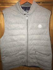 Moncler Men's Gray Down Padded Cotton Vest