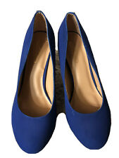 Journee Collection Women's Suede Pumps Blue Size 9