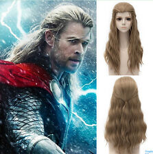 Marvel's The Avengers Thor Donar Long Brown Cosplay Wig Hair