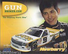 """2014 BRENNAN NEWBERRY """"GUN BROKER NTS"""" #9 BRISTOL NASCAR CWTS TRUCK POSTCARD"""