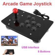 USB Arcade Stick Rocker Game Controller Fighting Joystick Gamepad Console Black