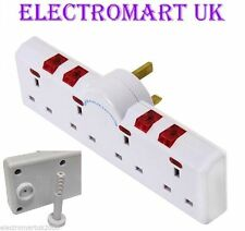 4-Gang Electrical Adapters Home Standard White