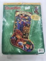 "Christmas Bucilla Needlepoint 18"" Stocking Kit ALL HEARTS COME HOME 60779 Rossi"